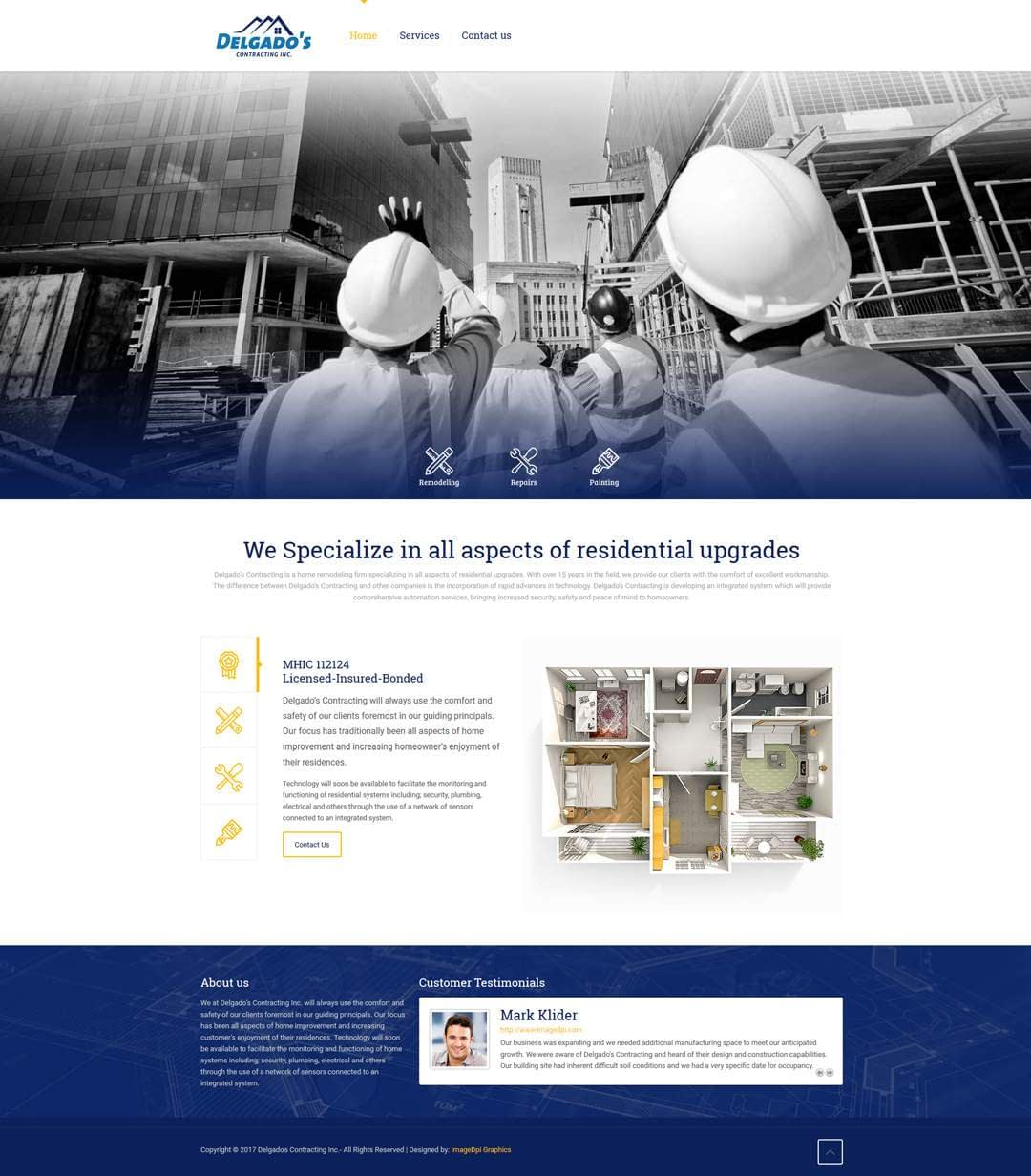 Delgados Contracting Website